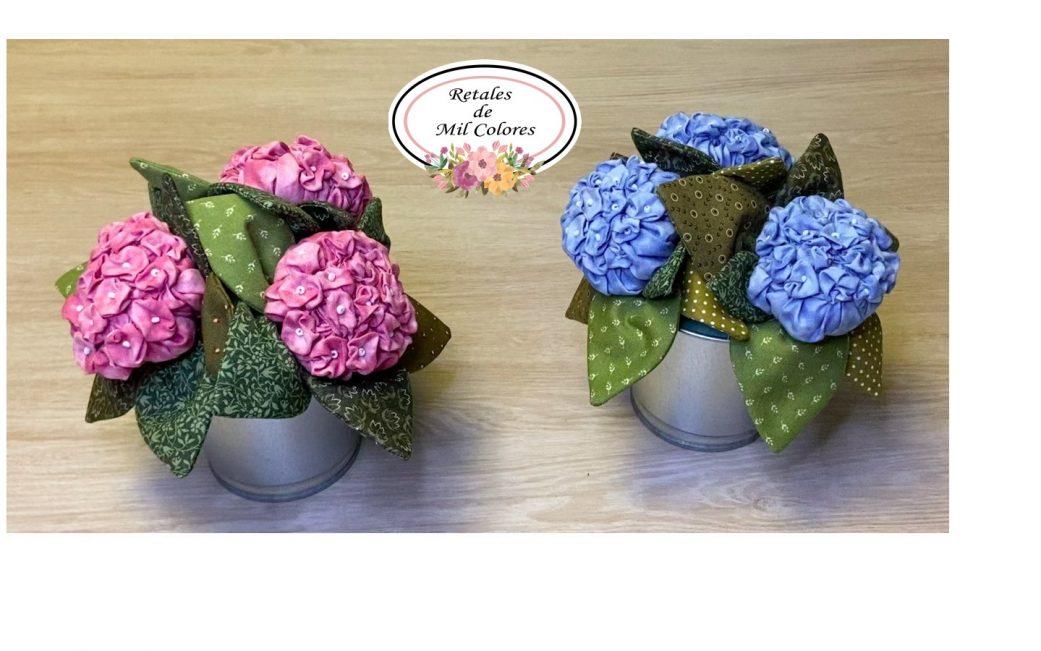 Hydrangea Fabric Flower