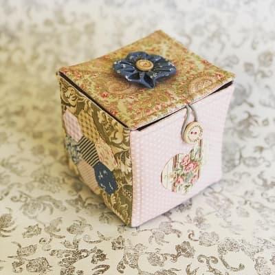 """Lucy"" Fabric Box"