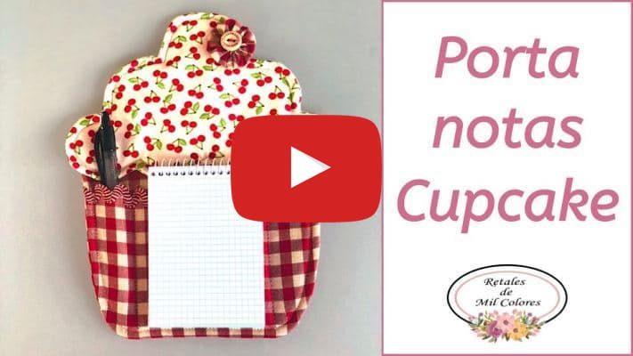 tutorial porta notas cupcake